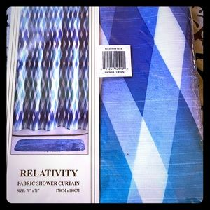 New in  Package Allure blue & white Shower Curtain